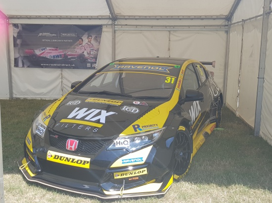 Jack Goff's Eurotech BTCC Honda Civic Type R on display at Silverstone Woodlands
